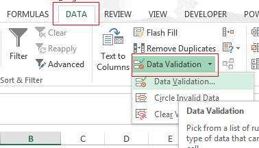 datavalidation
